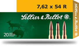 Патрон Sellier & Bellot SP .7,62х54R 11,7 г. / 2940