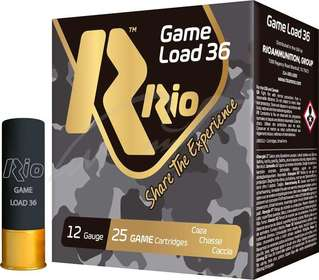 Патрон RIO Game Load-36 NEW кал. 12/70 дробь №00 36 g